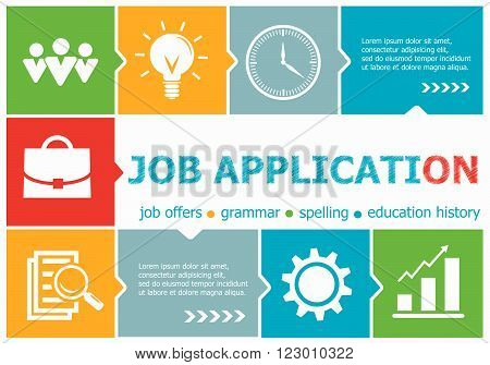 Job Application Design Illustration Concepts For Business, Consulting, Management, Career.