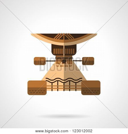 Brown longboard suspension part. Longboarding and skateboarding. Sport lifestyle. Vector icon flat color style. Web design element for site, mobile and business.