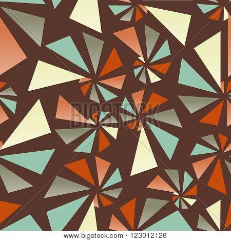 Triangular torsion seamless pattern, vector illustration for Your design, eps10