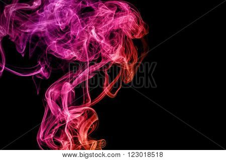 abstract color smoke on black background smoky rainbow colorful concept