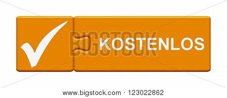 Puzzle Button orange showing Free in german language