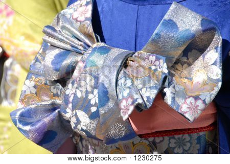 Detail Of Kimono Fabric