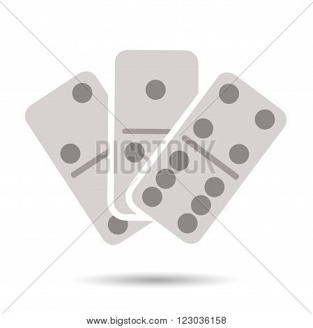 Flat domino icon isolated on white background