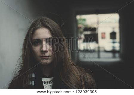 Young Scared Girl