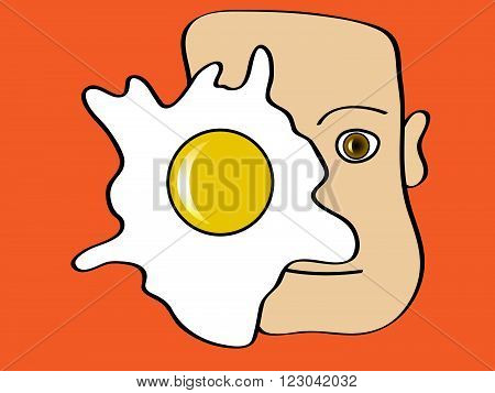 Body asymmetry caused by an egg in one eye