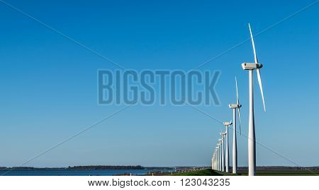 wind turbines harvesting  the wind for free enegery
