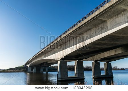Bridge connecting 't Gooi to Flevoland in Holland