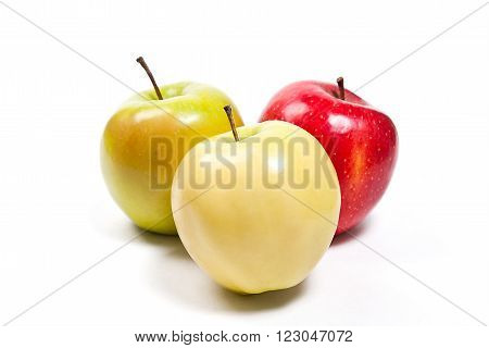 Group Of Ripe Apples On A White Background