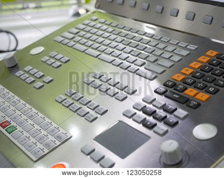 CNC Machine control panel monitor and control panel