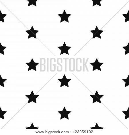 Simple star shape black and white seamless pattern. Vector geometric monochrome starlight background. Star pattern. Star monochrome classic ornament.