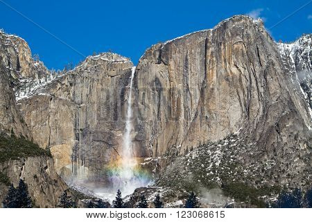 Yosemite fall with a rainbow, Yosemite National Park, CA
