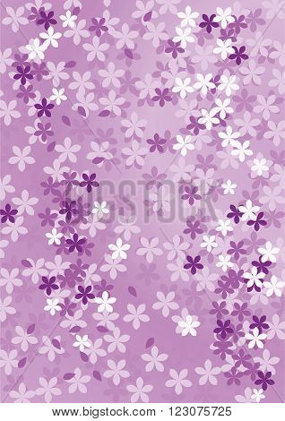 Abstract floral purple background. Vector illustration. design development