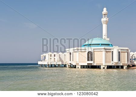 Jeddah,the Sea Mosque in the Corniche area