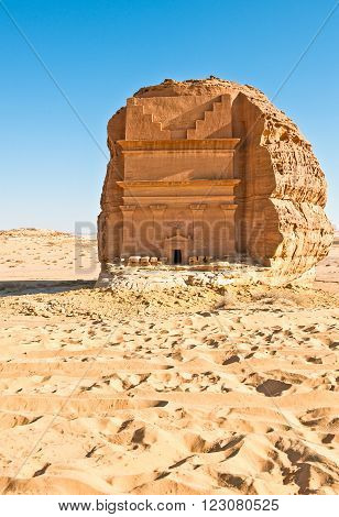 Madden Saleh, the archaeological site with the Nabatean tomb of the 1st century