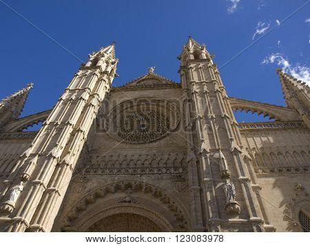 Cathedral La Seu in Palma de Mallorca,Spain