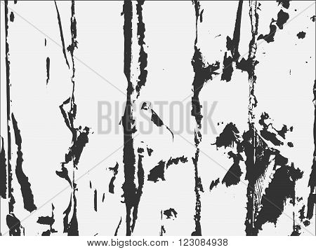 Black and white old wooden fence. Old wooden fence. Wooden fence vector. Black and white wooden fence.