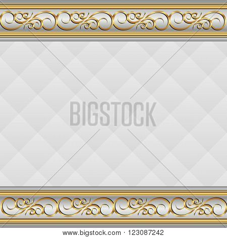 vintage background with golden ornament - vector illustration