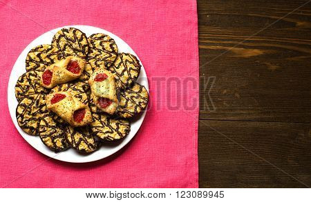 Cookies On A Textured Background.rustic Style