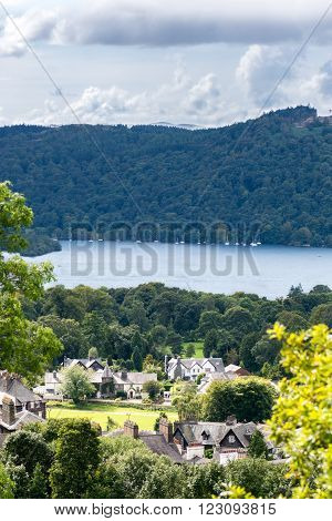 Windermere Lake In  English Lake District National Park, Cumbria, Uk
