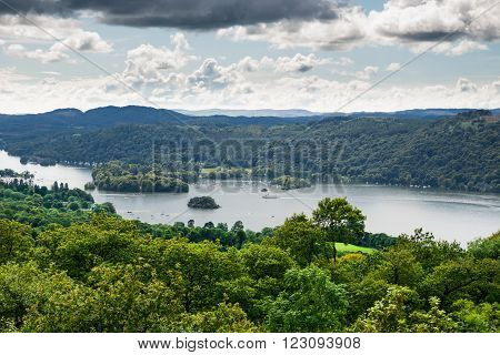 View Of Windermere Lake From Orrest Head, Cumbria, Uk