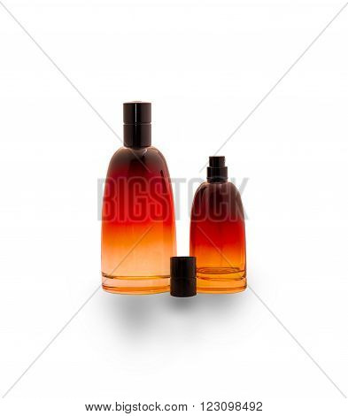 bottles of cologne for men on whitebackground ** Note: Soft Focus at 100%, best at smaller sizes