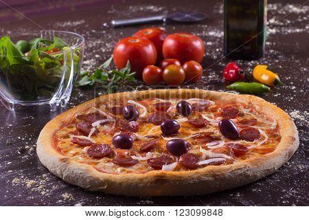Brazilian Calabresa Pizza