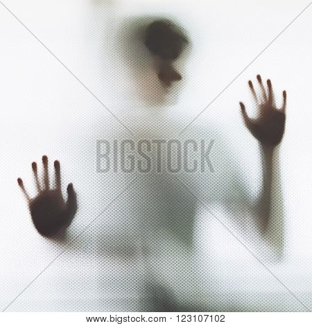 Abstract undefined Man in the white shadow