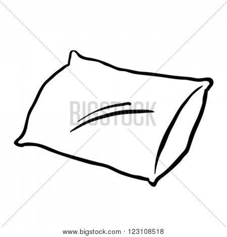 black and white pillow cartoon