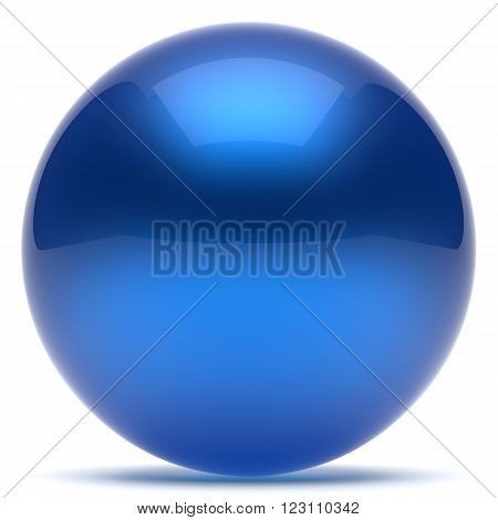 Sphere ball blue geometric shape button round basic circle solid figure simple minimalistic element single shiny glossy sparkling object blank balloon atom icon. 3d render