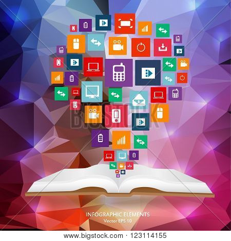 Abstract creative concept vector siluet hands of icons. For web and mobile applications isolated on background, illustration template design, Business infographic and social media.