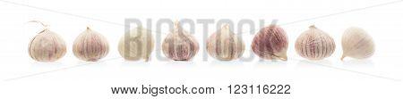Raw Garlic (small) Isolated