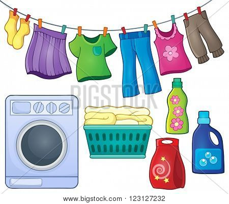 Laundry theme image 3 - eps10 vector illustration.