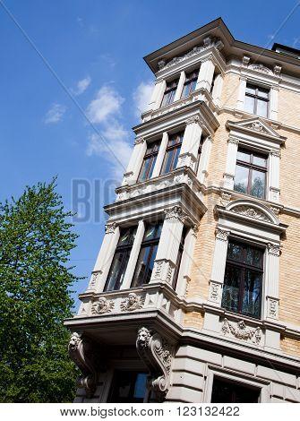 Facade of Art Nouveau building wilhelminian style