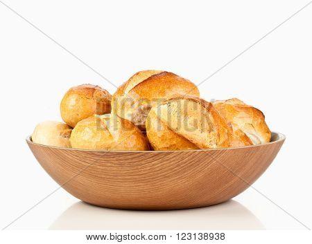 german bread roll or bun in the breadbasket