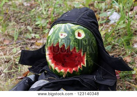 Scarecrow Made Of Watermelon