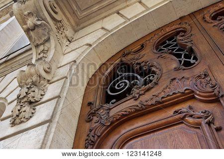 Wooden Door And Facade