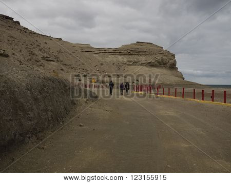 Puerto Pyramides Argentina - 22nd October 2015: Whale watching area of Patagonia.
