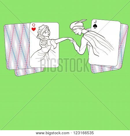 rendezvous of Hearts ladies and jack of spades