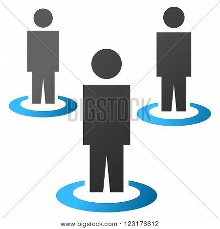 People Portals vector toolbar icon for software design. Style is gradient icon symbol on a white background. poster