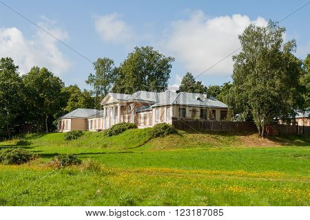 Manor house in Mon Repos Park. Vyborg Russia.