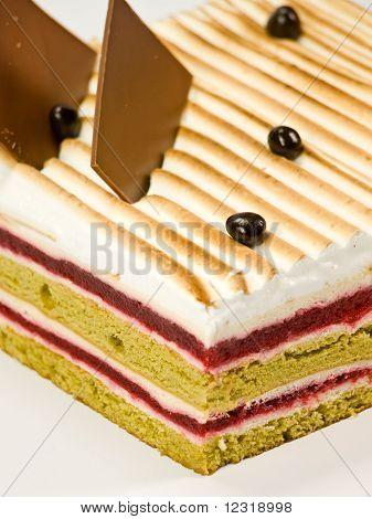 Cake Pistachio, Strawberries And Cream