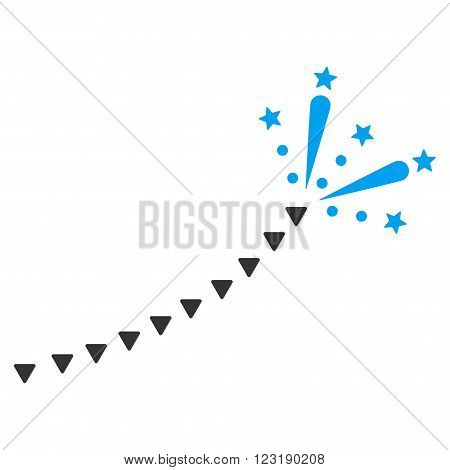 Fireworks Trace vector icon. Fireworks Trace icon symbol. Fireworks Trace icon image.
