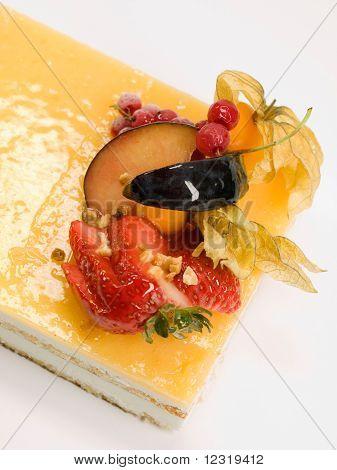 Cake Fruit With Cream