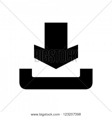 Download icon isolated on white