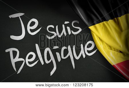 Je suis Belgique in french (I am Belgium)