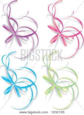 Decorative Ribbons, Vector Illustration
