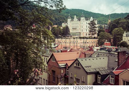 street view in Karlovy Vary hotels in Karlovy Vary Carlsbad Czech Republic Europe