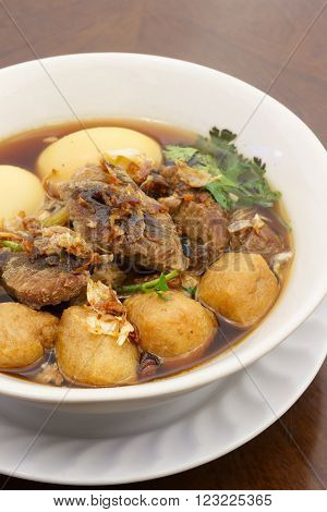 pock and egg stewed in sweet herb gravy