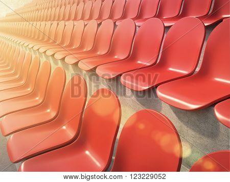Red Plastic Seats