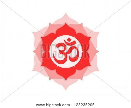 Hindu Om Icon with Traditional Kolam Design